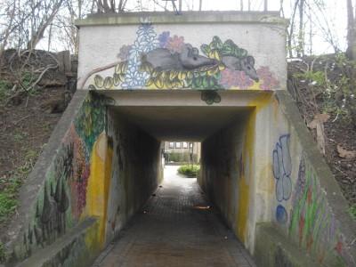 Der Mauseloch-Tunnel vom ZOB zum Parkplatz Karlstraße