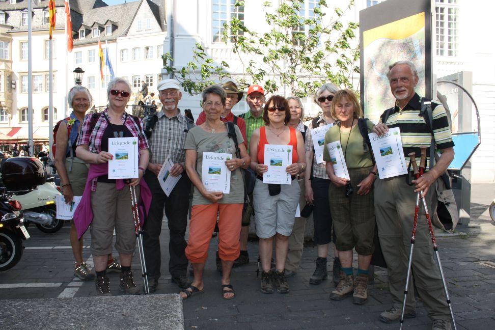 Das Ziel auf dem Marktplatz von Bonn ist erreicht!
