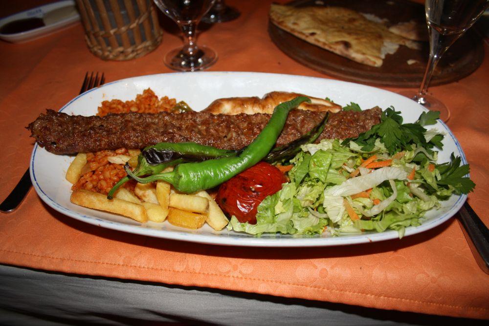 Abschiedsessen am Mittwochabend: Adana Kebab