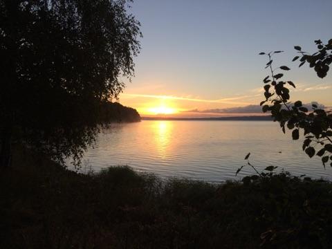 Sonnenaufgang auf der Flensburger Förde